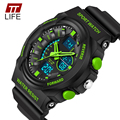 TTLIFE Марка Многофункциональный Часы для Мужчин relojes deportivos Женщины Противоударный Водонепроницаемый Спорт Кварцевые Цифровые Электронные Часы