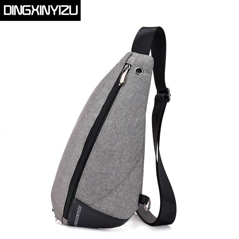 9409757f70 DINGXINYIZU Fashion Oxford Chest Bag Men Simple Single Shoulder Bags for  Women Crossbody Bag Male Messenger Bag Back Pack Blosas