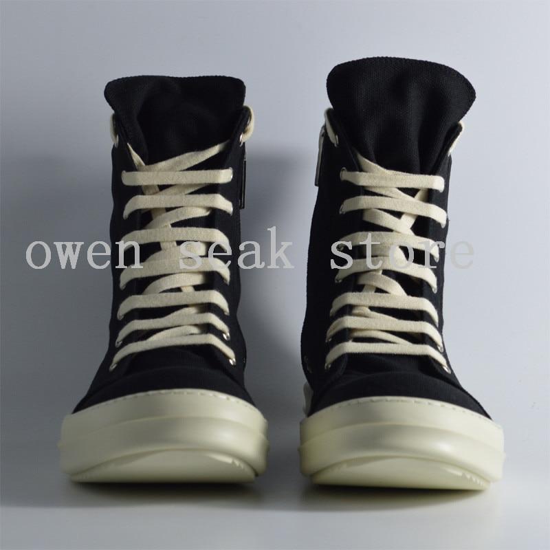 Broderie gris Marque Bottes top Haute Zip Cheville Lacent Noir Luxe De Sneaker blanc Toile Femmes Casual Appartements Formateurs Owen Noir Seak Chaussures RwZCPZqS