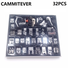 CAMMITEVER 32pcs Sew Presser Foot Set 32 PCS Professional Domestic Sewing foot Feet Simplicity