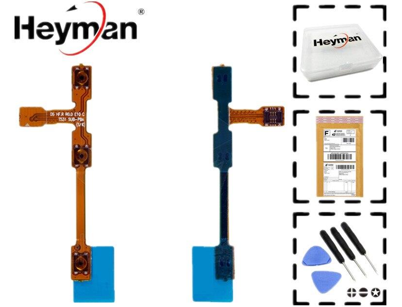 Heyman Flex Câble pour Samsung P5200 P5210 Galaxy Tab3 Câble Plat (côté boutons, bouton ON/OFF) pièces de rechange