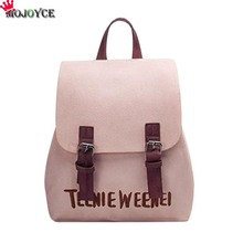 Письмо искусственная кожа рюкзак Для женщин вышивка школьная сумка для девочек-подростков Брендовая женская небольшие рюкзаки Mochila Feminina