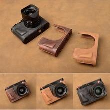 Aydgcam бренд Пояса из натуральной кожи Камера случае половина Средства ухода за кожей для Leica Q tye116 ручной работы Камера сумка Нижняя крышка ручка Винтаж случае