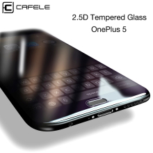 CAFELE Tempered Glass For Oneplus 5 Screen Protector for One plus 5 2.5D Edge HD Clear Explosion Proof Protective Glass Film цена и фото