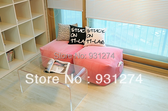 Acrylic small coffee table/side end tables/bedside table/living room ...