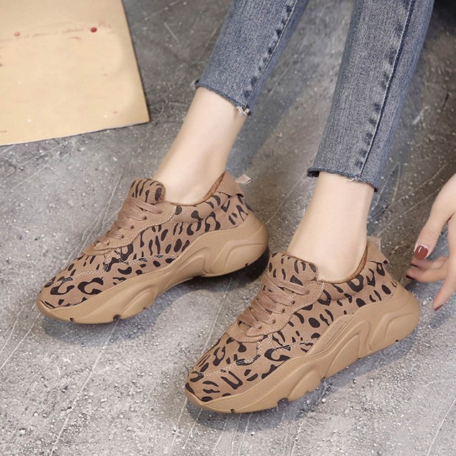 f8e95b6f0b31 YOUYEDIAN Women Sneakers 2018 Casual Shoes Winter Leopard Print Fashion  Female Running Platform Sneakers Zapatillas Mujer