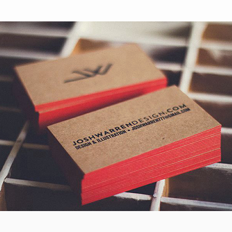600gsm Custom Business Card Printing Kraft Paper Visiting Card Hot ...