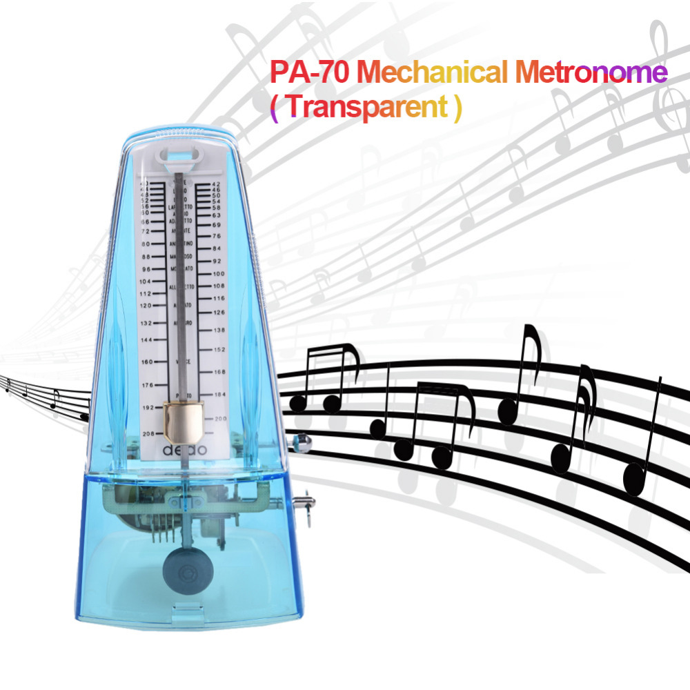 2017 Transparent Mechanical Metronome for Piano Guitar Bass Violin and Other More Musical Instruments 40 210