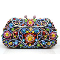 evening bag High-grade heavy luxury chain at hand bag banquet handbag socialite package Baguette Wallets wholesale Purse Q72