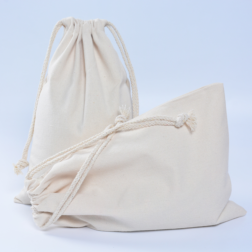 30pcs Handmade  Men Women Travel Packing Organizer Reusable Multi-purpose Pouch Cotton Canvas Drawstring Small Gift Bags