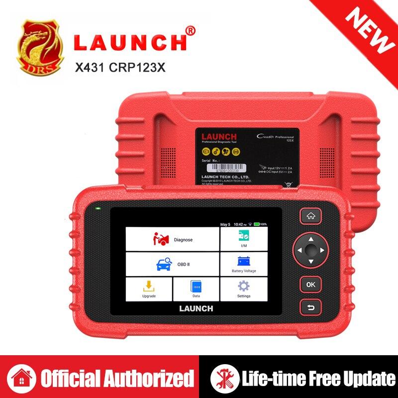 LANÇAMENTO X431 CRP123X OBD2 Scanner Leitor de Código de Auto OBDII Ferramenta de Diagnóstico ENG EM ABS SRS Ferramenta de Lançamento Do Carro Do Scanner Automotivo crp123