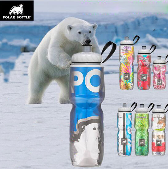 American Polar Bottle Bear Cold Sports Bottle Outdoor Equipment Mountain Bike Bicycle Riding Kettle