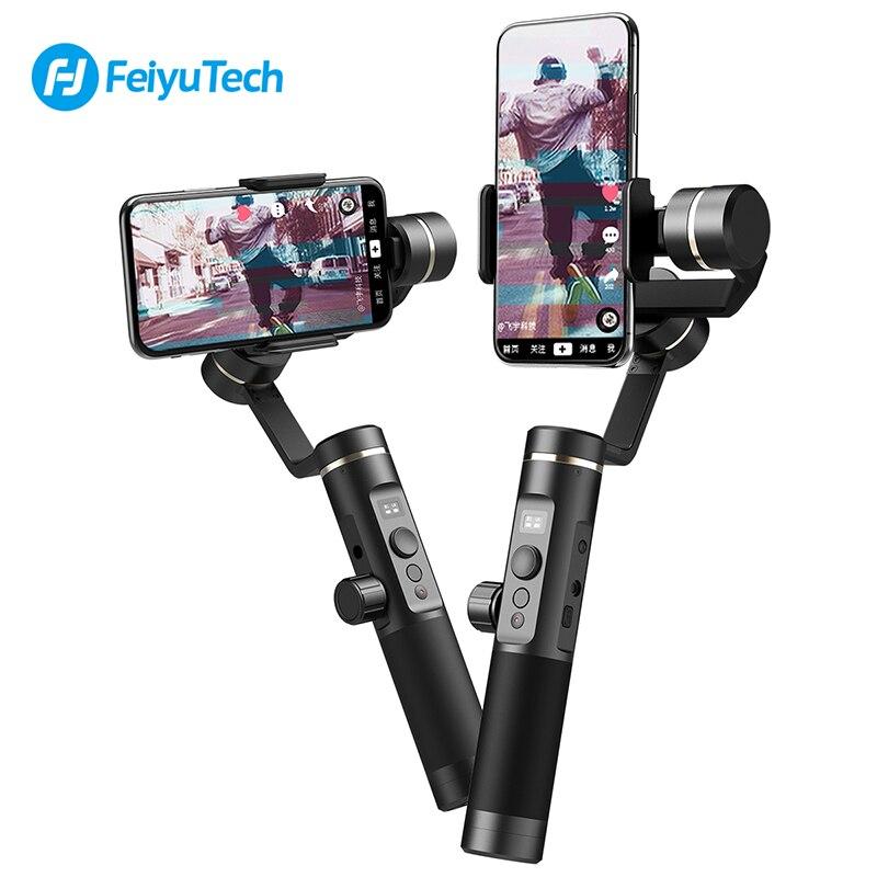 Feiyu Tech SPG 2 3-Axes De Poche Cardan pour Téléphone Portable Bluetooth Stabilisateur pour Gopro 7/6/ 5/4 iPhone XS 7 8 Samsung S8 S7 S9