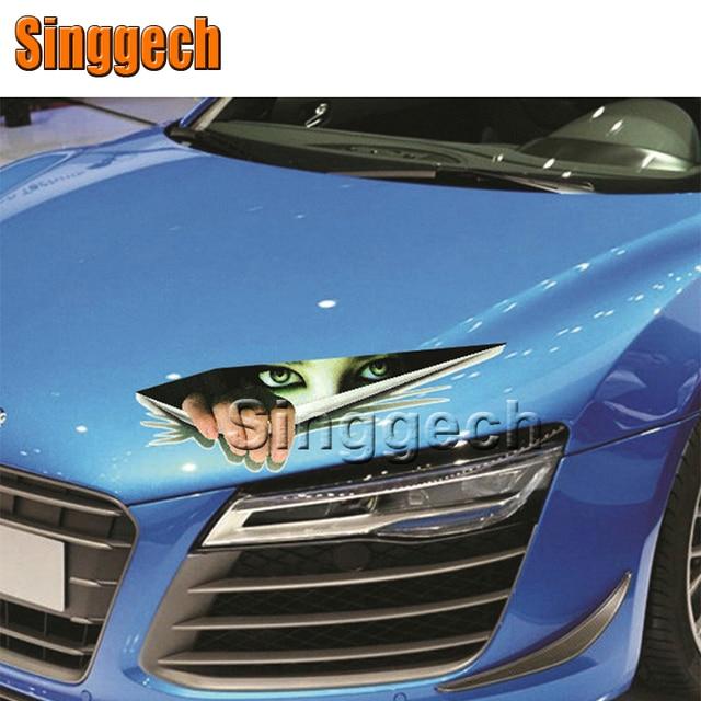 3d eyes peeking monster car stickers for opel astra h j g insignia mokka corsa d vectra c