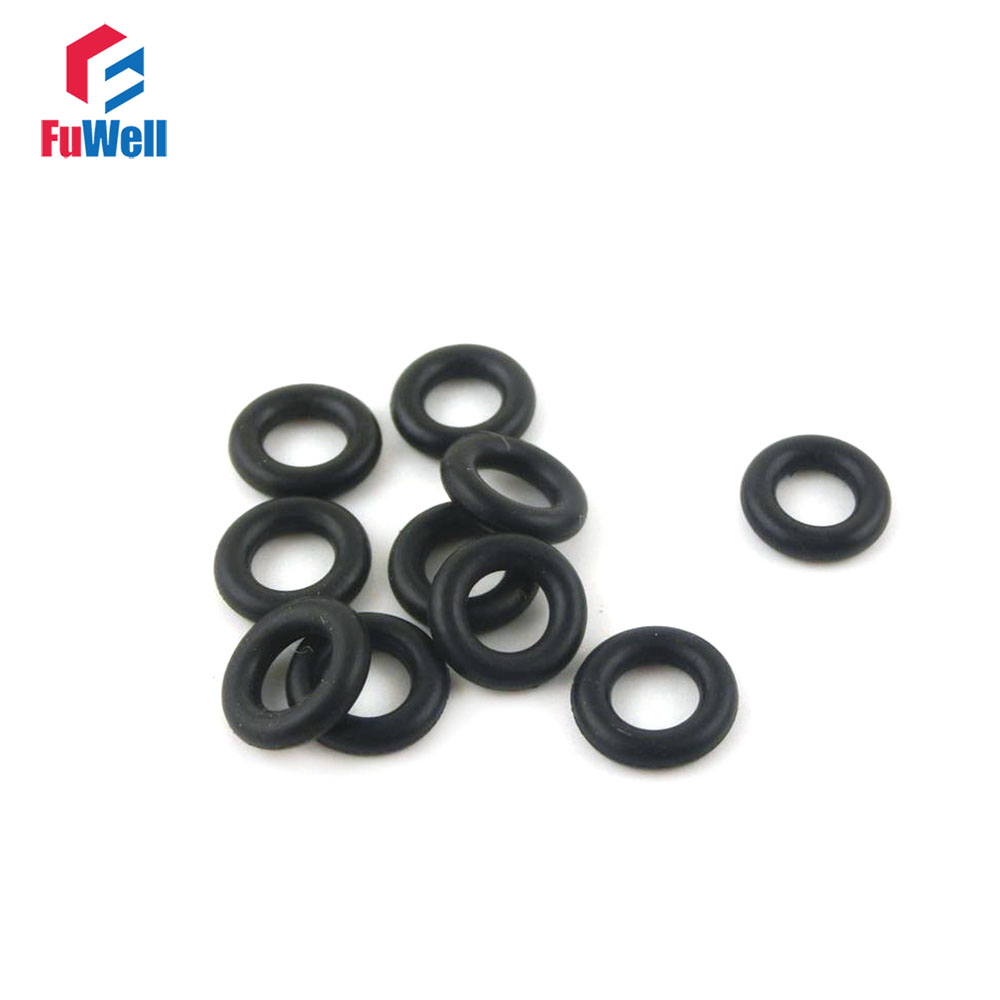 50pcs 65mm Dia 2mm Thickness Nitrile Rubber O Ring Sealing Grommets Black