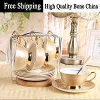 Châu Âu cổ điển đồ dùng trà hiện đại Top lớp gốm cà phê Cup Set bán buôn phụ kiện nhà bếp Drinkware công c