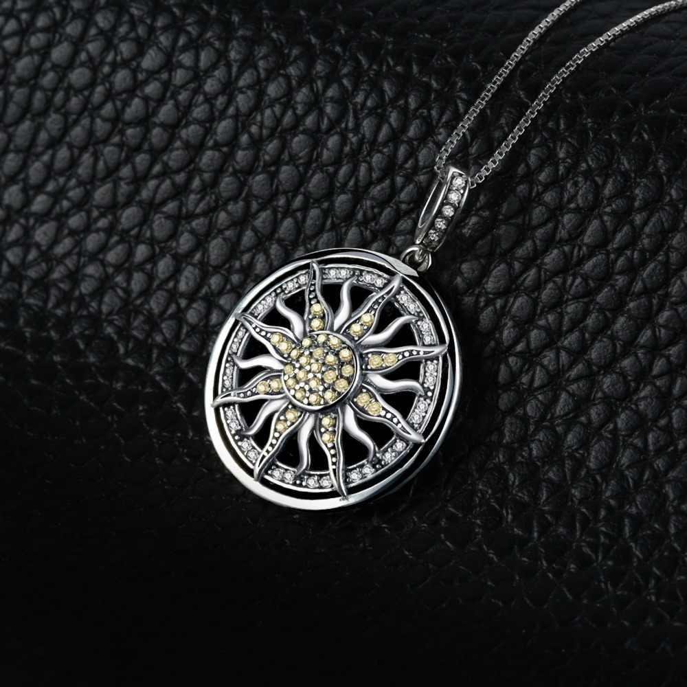 Jewelrypalace Langit Sun 925 Sterling Silver Cubic Zirconia Pesona Unik Liontin Kalung Wanita Perhiasan Tanpa Rantai