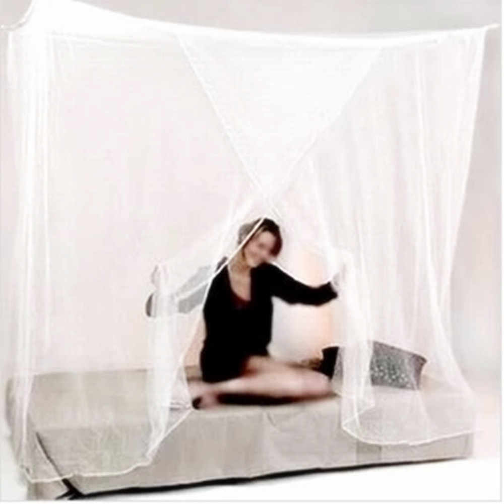 White One Door Canopy Mosquito Net Fabric Mesh Insect Shelterd girls Room Princess Bed Decor Tent Protection Children