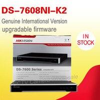 Бесплатная доставка английская версия ds 7608ni k2 H.265 4 встроенных К NVR 8ch не PoE с 2 SATA до 8MP камеры