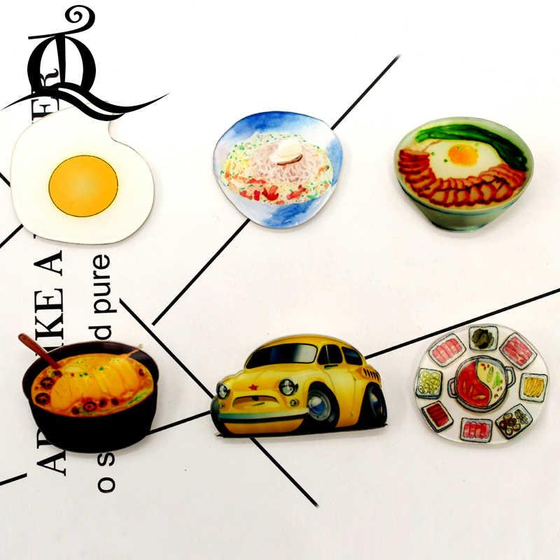1 PCS fruta MIX menina Dos Desenhos Animados Ícones no Pino Kawaii Ícone Crachá Bacges em Mochila Emblemas para Vestuário acrílico Badges 41