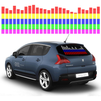 OKEEN Car Sticker Music Rhythm LED Flash Light Lamp Sound Activated Equalizer Car Atmosphere Led Light 90*25cm 6 colours