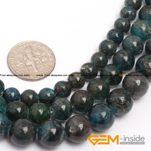 """Ronda natural cianita (apatito) granos seleccionables: 6mm 8mm 10mm perlas sueltas DIY para la pulsera hacer strand 15 """"envío gratis"""