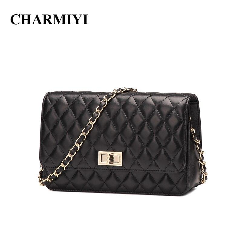 CHARMIYI 2018 Новая модная маленькая сумка женская сумка-мессенджер мягкая натуральная кожа сумка через плечо женская сумка клатчи Bolsas Feminina