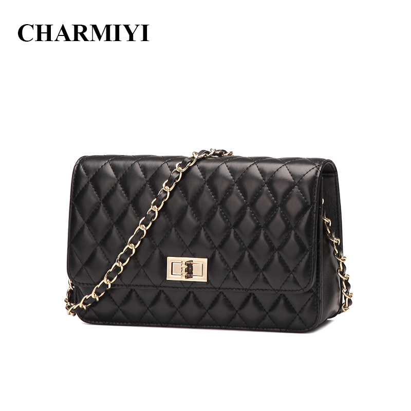 CHARMIYI 2018 New Fashion Small Bag Women Messenger Bags Soft Real Leather Shoulder Crossbody Bag Women Clutches Bolsas Feminina fashion small bag women messenger bags soft pu leather handbags crossbody bag for women clutches bolsas femininas dollar price