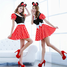 e58c6b511 Sexy Cosplay Costumes Christmas Dress For Women Cute Mouse Uniform With Ear  Headdress Xmas Outfit Girl Exotic Apparel Customer
