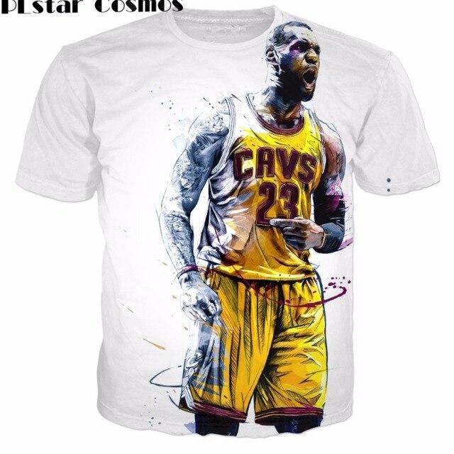 dc4923d92b16 PLstar Cosmos Hot Sale 2017 Fashion Men s T-shirts Creative design T Shirt  Star Lebron James 3D Print Unisex Short Sleeve Tees 2