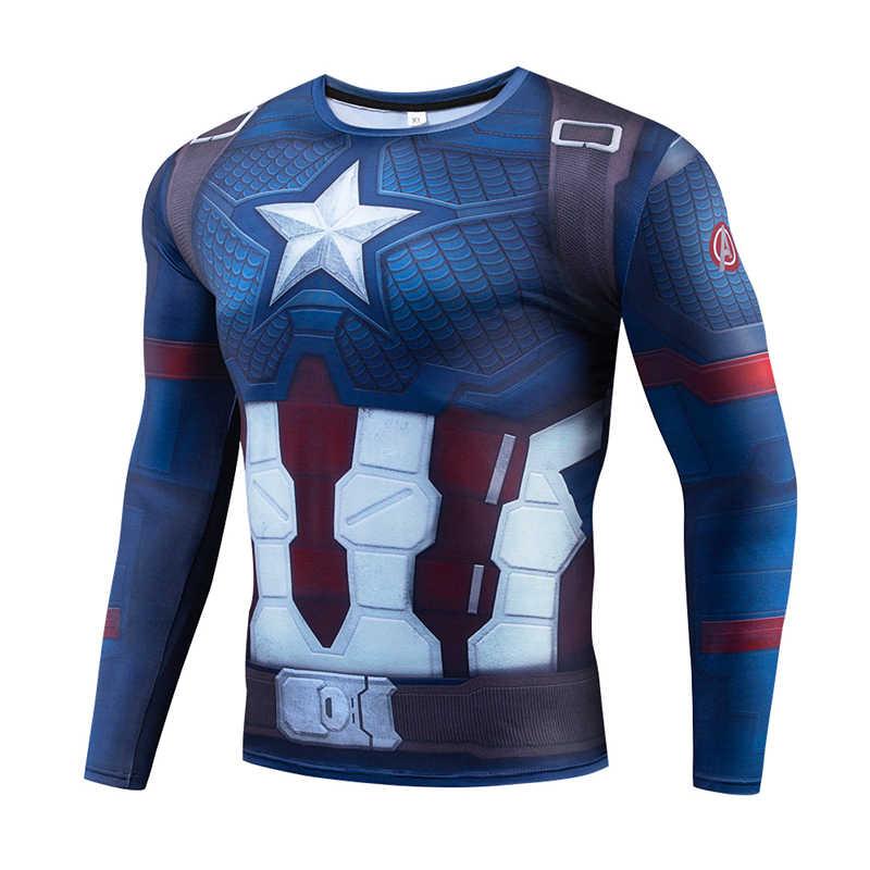 2019 ภาพยนตร์ Superhero League 4 ชายพิมพ์เสื้อยืด Marvel Series แขนยาวเสื้อยืด QUANTUM เสื้อ