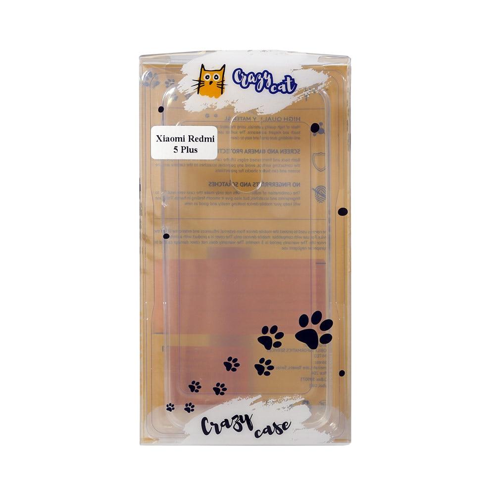 Mobile Phone Bags & Cases INOI Crazy Cat Case For Redmi 5 Plus, TPU Mi_1000005378129,1000005328964