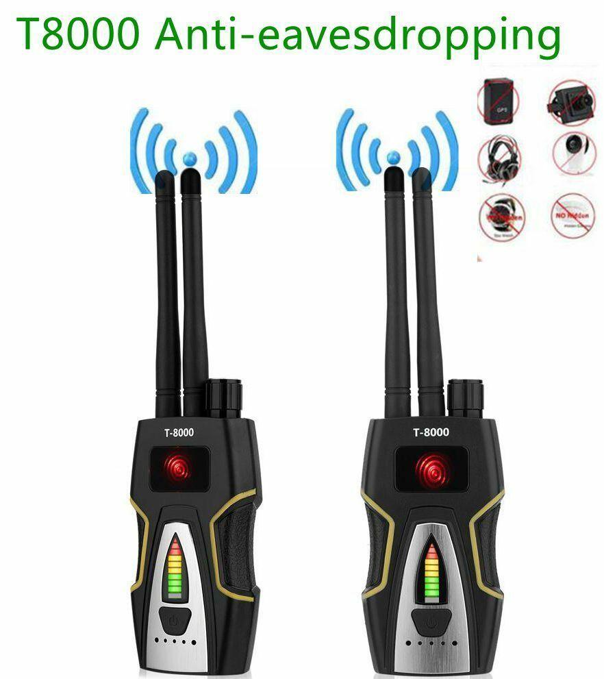 Détecteur de Signal RF à double antenne T-8000 détecteur Audio GSM détecteur de balayage GPS Anti-espion