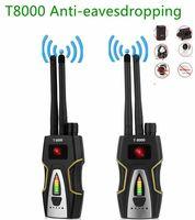 T-8000 двойной антенны Радиочастотный детектор GSM аудио устройство для поиска с GPS детектор сканера Анти-шпион ошибка анти откровенный Камера ...
