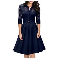 Womens Elegant Vintage V Neck Peplum Tunic Wear Work Business Casual Party Sheath Wiggle Dress Tunic