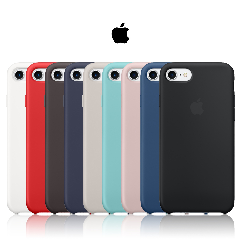 a828337d0c3 1:1 Copy Office official Silicone For iPhone 8 Plus 7 6 6 s X XR 5 5S SE  For iPhone
