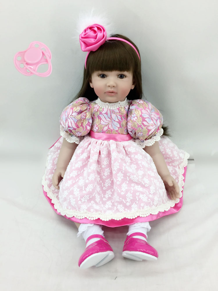 High end Silicone Vinyl Reborn Baby Doll Toys Kids Child Birthday Christmas New Year Gifts Lifelike Toddler Princess Girl Dolls