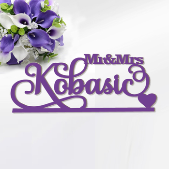 Dekorasi Pernikahan Tanda Nama-Mr dan Mrs Tanda-Nama Kustom Sign-MR & Mrs Kayu Nama Pribadi tanda Nama-Mr dan Mrs Manis