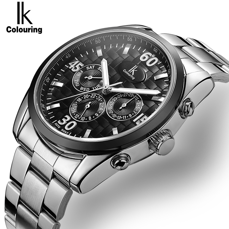 IK Mens High Quality Tourbillon Automatic mechanical Watches Men Top Brand Luxury Fashion Business full steel watch Man Clcok цена
