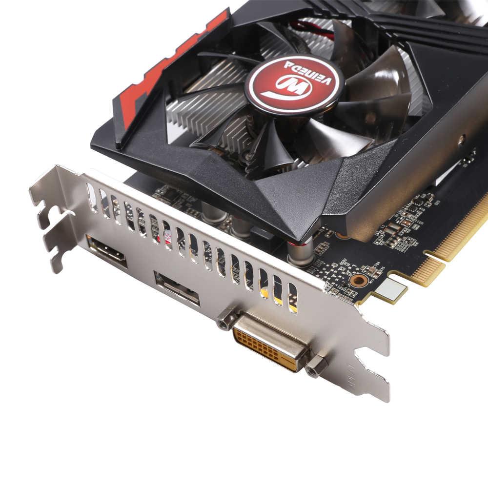 بطاقة الرسومات من VEINEDA طراز GTX1050Ti GPU بسعة 4 جيجابايت DDR5 PCI-E 128Bit تناسب بطاقات nVIDIA VGA Geforce GTX1050ti Hdmi Dvi لعبة 1050