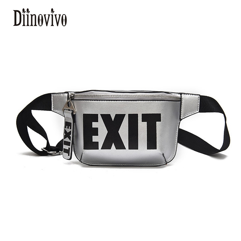 DIINOVIVO Letter Printing Multifunction Waist Bag New Arrivals Women Belt Bags 2018 Luxury Fanny Pack Fashion Chest Pack DNV0389