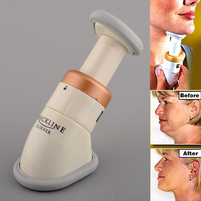 Portable Mini Neckline Slimmer Neck Exerciser Chin Massager Jaw Reduce Double Thin Skin Health Care Massger