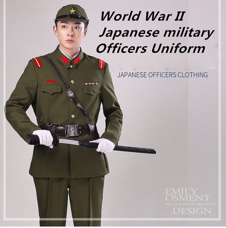 Ben noto Seconda Guerra Mondiale Giapponese ufficiali militari Uniforme  NS82