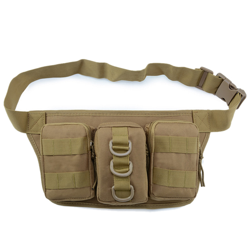 Outdoor Sports Storage Triple Pockets Multifunctional Bag Outdoor Pouch Waist Bag Molle System