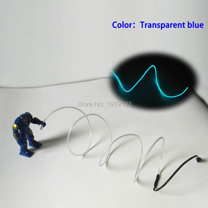 10 Boja Odaberite Nova moda DIY LED odijela EL žice svjetlo gore - Rasvjeta za odmor - Foto 5
