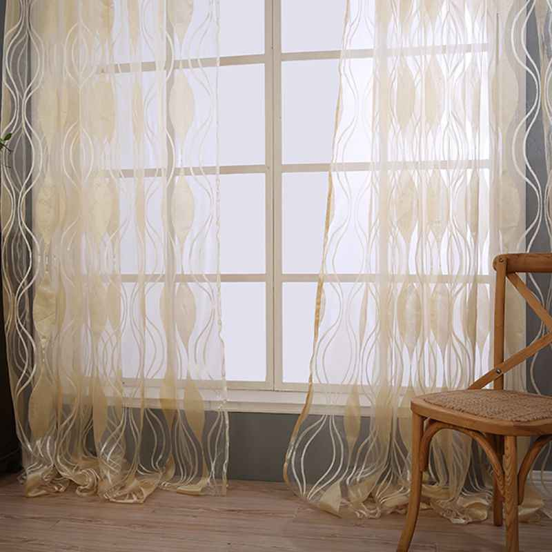 Modern Sheer Yarn Bedroom Curtain Fabric Living Room Curtain