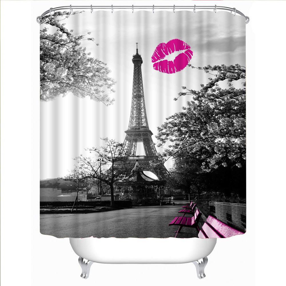 Eiffel tower bathroom decor - Compare Prices On Eiffel Tower Shower Curtain Online Shopping Buy Eiffel Tower Bathroom Decor