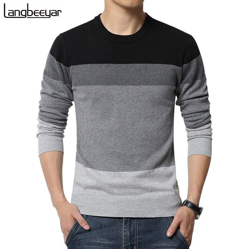Compra rayas suéter para hombre online al por mayor de