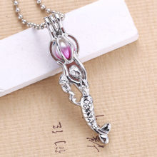 6pcs Silver Mermaid Pearl Cage (China)