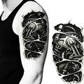 Новая Мода Человек 3D Татуировки Рука Робота Водонепроницаемый Наклейки Татуировки Механическая Рука Поддельные Транспорта M02424
